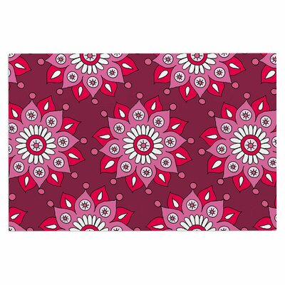 Raspberry Flower Burst Doormat
