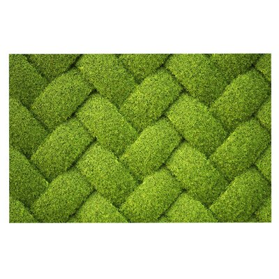 Ivy Basket Weave Decorative Doormat