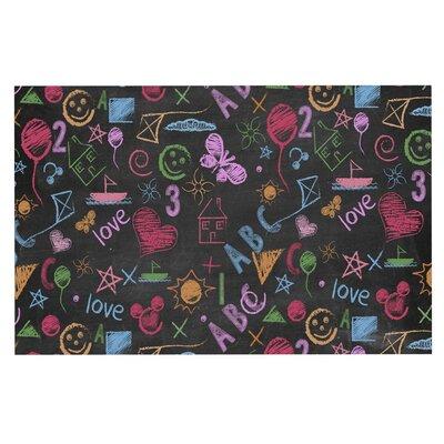 Kindergarden Crazy Rainbow Decorative Doormat