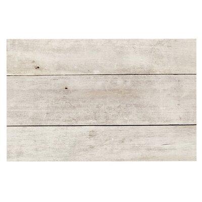 White Wash Wood Doormat