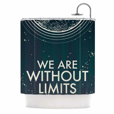 We Are Without Limits Typography Shower Curtain