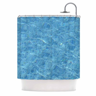 Calm Blue Pool Water Photography Shower Curtain
