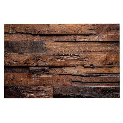 Espresso Dreams Rustic Wood Decorative Doormat