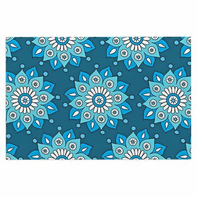 Blue Flower Burst Doormat