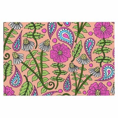 Peach Floral Paisley Doormat