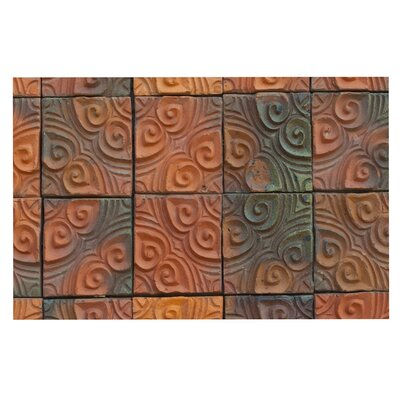 Whimsy Tile Rustic Decorative Doormat