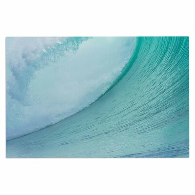 Ocean Blue Wave Doormat