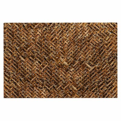 Brown Bamboo Basket Weave Doormat