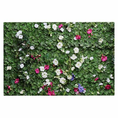 Green Flower Vine Wall Nature Decorative Doormat