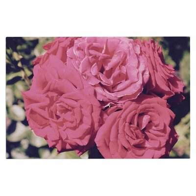 Blush Pink Blooming Roses Doormat