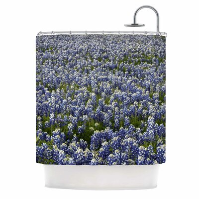 Purple Flower Lavender Fields Photography Shower Curtain