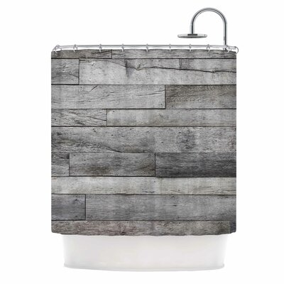 Gray Rustic Wood Photography Shower Curtain