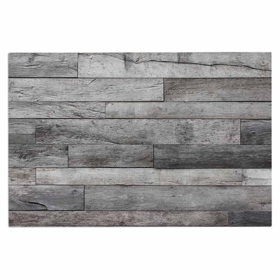 Gray Rustic Wood Doormat