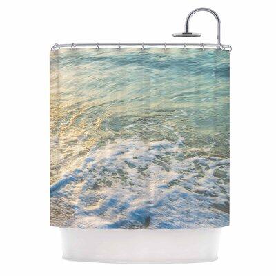 Ocean Beach Water Photography Shower Curtain
