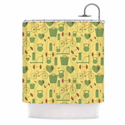 Fitness Sports Shower Curtain