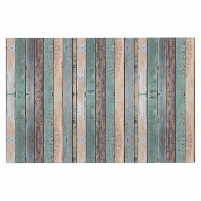 Coastal Beach Wood Doormat