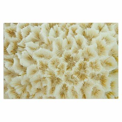 Ivory White Ocean Beach Coral Doormat