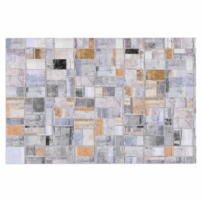 Gray Tan Tile Squares Doormat