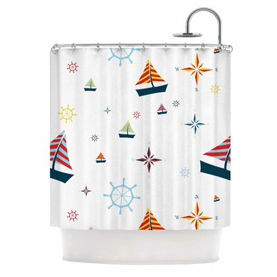 Sailing Coastal Shower Curtain