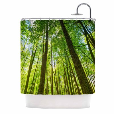 Green Tree Sky Photography Shower Curtain