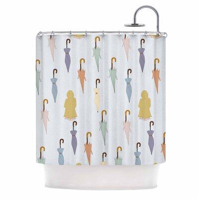 Umbrellas Illustration Shower Curtain