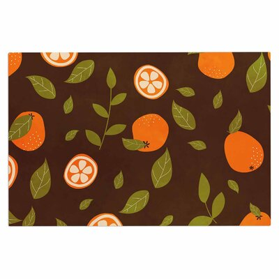 Orange Pattern Doormat