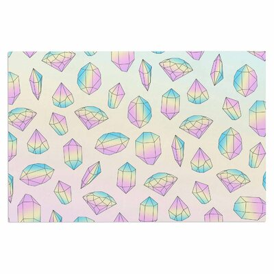 Pastel Diamonds Vector Decorative Doormat