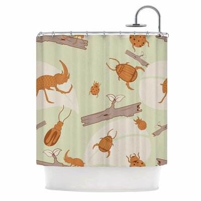 Beetles Nature Shower Curtain