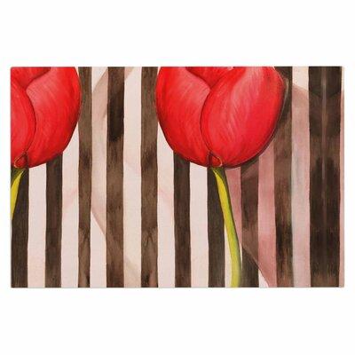 Classic Rose Stripes Decorative Doormat