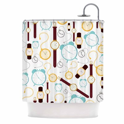 Clocks Shower Curtain