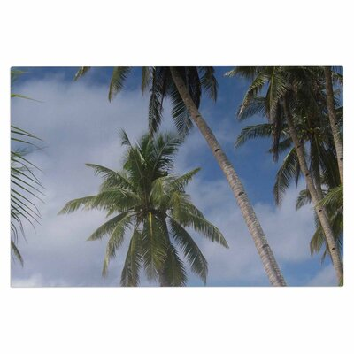 Blue Sky Ocean Palm Trees Doormat