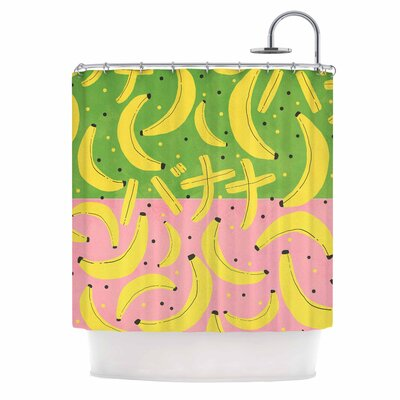 'Banana II' Shower Curtain