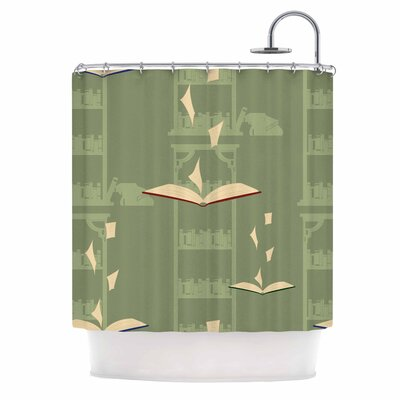 Library Digital Shower Curtain