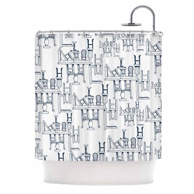 Tables & Chairs Shower Curtain