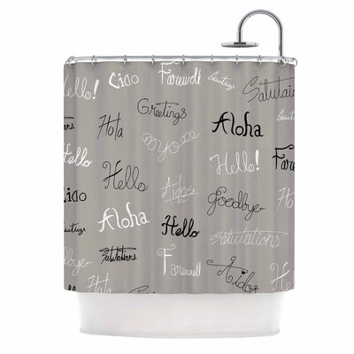 Hellos and Goodbyes Shower Curtain