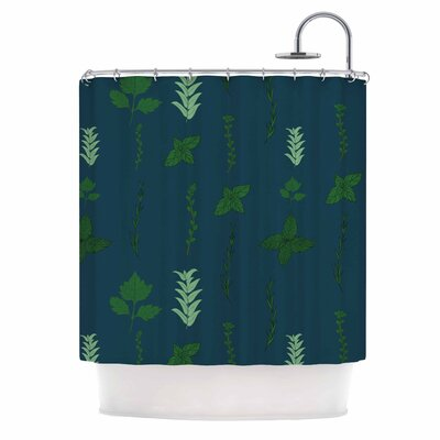 Herb Garden Illustration Shower Curtain