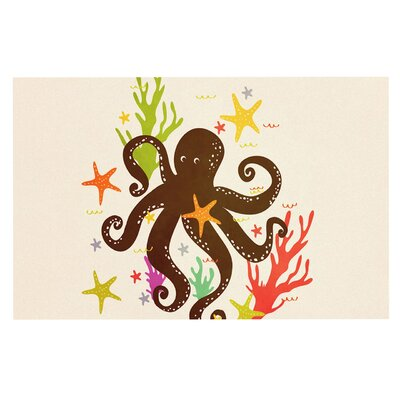 Friends Around the Sea Octopus Decorative Doormat