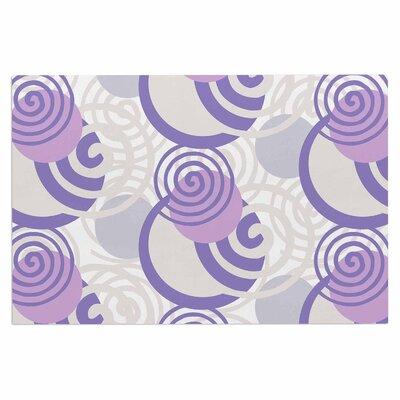 Dynamic Swirls Purple Doormat