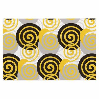 Dynamic Swirls Yellow Doormat