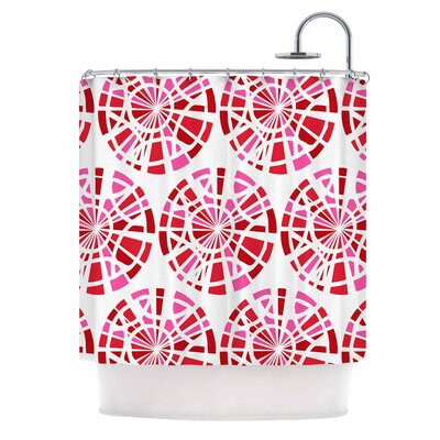 Precious Illustration Shower Curtain Color: Red/Pink