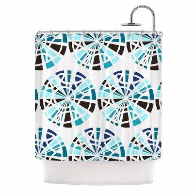 Precious Illustration Shower Curtain Color: Blue/Teal
