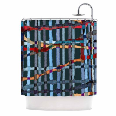 'Midnight Bamboo' Painting Shower Curtain
