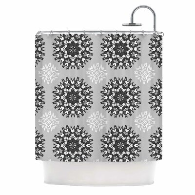 Princess Shower Curtain Color: Black/White/Gray