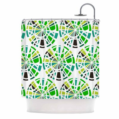 Precious Illustration Shower Curtain Color: Green