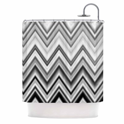 Seventies Chevron Shower Curtain Color: Black/White