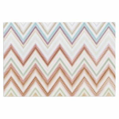 Seventies Chevron Doormat Color: Beige