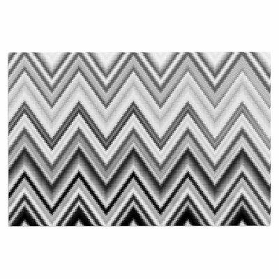 Seventies Chevron Doormat Color: Black/White