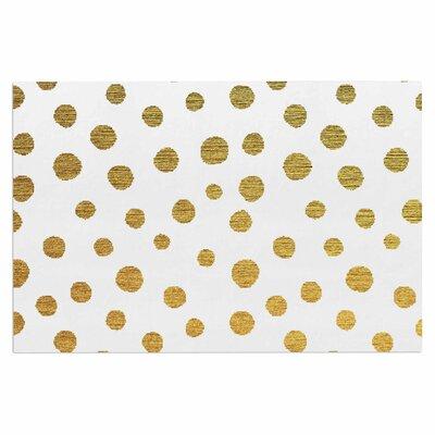 Golden Dots Doormat Color: Yellow/White