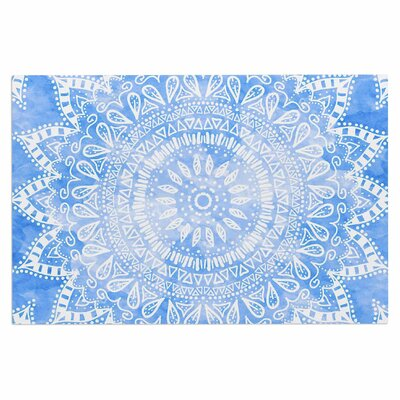 Boho Flower Mandala Doormat Color: Blue/Aqua