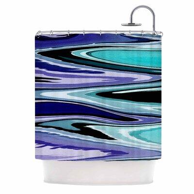 Beach Waves Shower Curtain Color: Purple